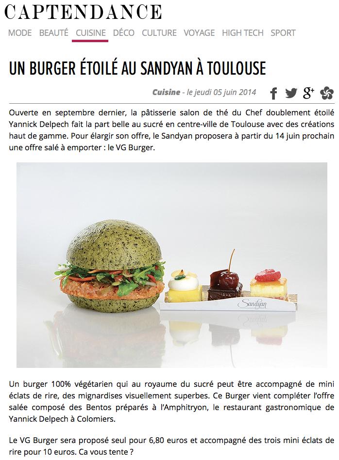 Un Burger étoilé au Sandyan à Toulouse